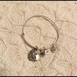 Alex and Ani bracelet w silver dollar charm